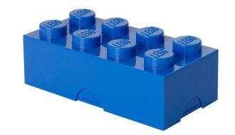 Lego broodtrommel blauw