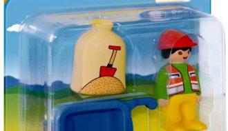 Playmobil 1.2.3 Arbeider met kruiwagen - 6961