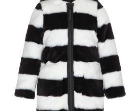 Zwart Witte Winterjas.Molo Winterjas Meisje Wit Zwart