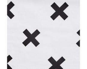 Hoeslaken Zwart Wit.Bink Bedding Hoeslaken Ledikant Cross Wit Zwart