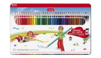 Bruynzeel kleurpotloden in blik - 36 stuks