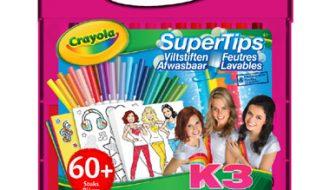 Crayola K3 viltstiften tekenkoffer