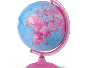 Wereldbol Met Licht : Wereldbol met licht roze