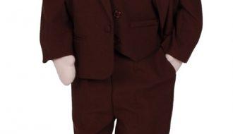 Babykostuum bruin effen-62