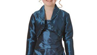 Bolero meisjes donkerblauw met pailletjes- 92/98