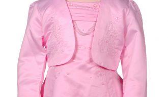 Bolero meisjes roze met borduursel-158