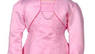 Bolero meisjes roze met pailletjes-158