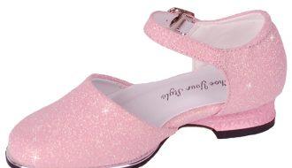Galaschoen meisjes roze met glitters-24