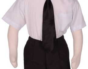 Kinderoverhemd korte mouw wit- 98