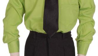 Kinderoverhemd lange mouw groen- 86