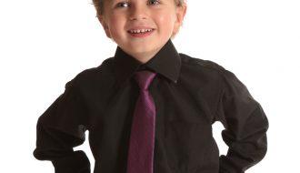 Kinderoverhemd lange mouw zwart- 92