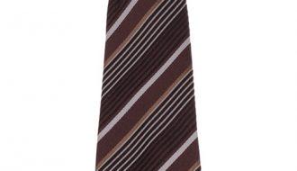 Kinderstropdas bruin met zwarte strepen-25cm