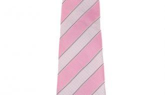 Kinderstropdas streep wit / roze-26cm