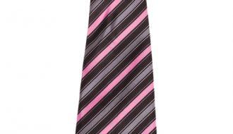 Kinderstropdas zwart met roze strepen-28cm