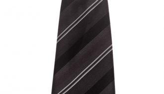 Kinderstropdas zwart met strepen-28cm