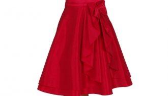 Korte jurk helderrood-34