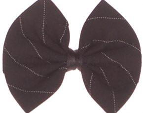 Vlinderstrik zwart met streep voor baby's-